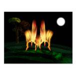 Mosca del fuego tarjeta postal