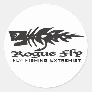 Mosca del granuja, pesca con mosca… pegatina redonda