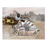 Mosca del vintage al poster del viaje de Australia Postal