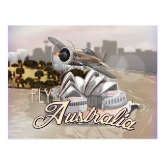 Mosca del vintage al poster del viaje de Australia Postales