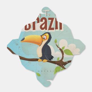 Mosca del vintage al poster del viaje del Brasil Cajas Para Regalos De Boda