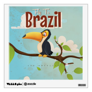 Mosca del vintage al poster del viaje del Brasil