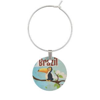 Mosca del vintage al poster del viaje del Brasil Identificadores De Copas