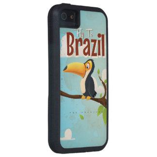 Mosca del vintage al poster del viaje del Brasil iPhone 5 Funda