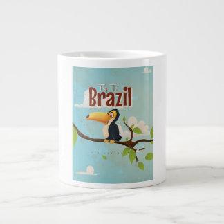 Mosca del vintage al poster del viaje del Brasil Taza Grande