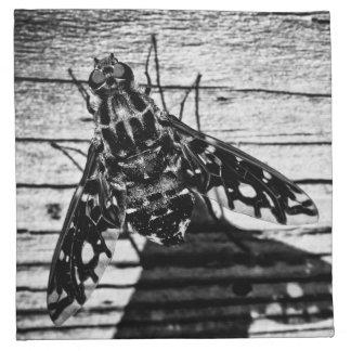 mosca detrás servilletas imprimidas