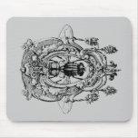 Mosca en el ornamento alfombrillas de raton