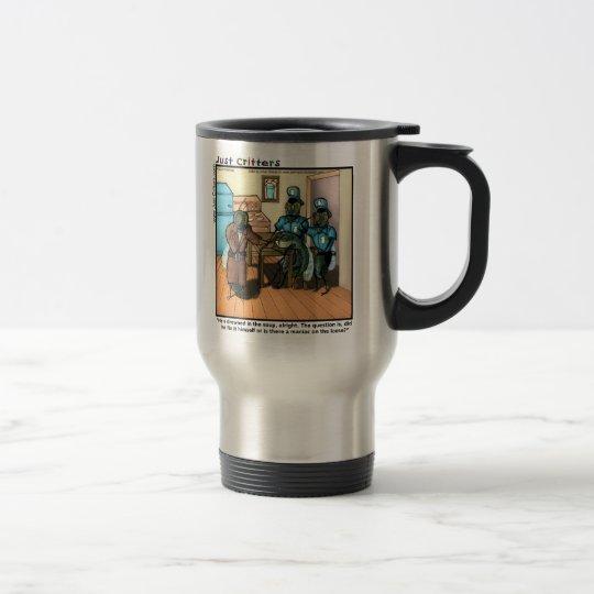 Mosca en sopa taza de viaje