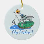 Mosca Fishin Ornamento Para Reyes Magos