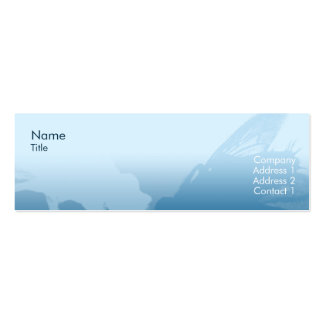 Mosca - flaca tarjetas de visita mini