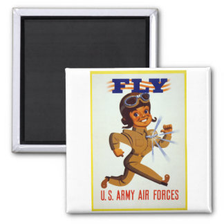 Mosca - fuerzas aéreas del ejército americano imán cuadrado