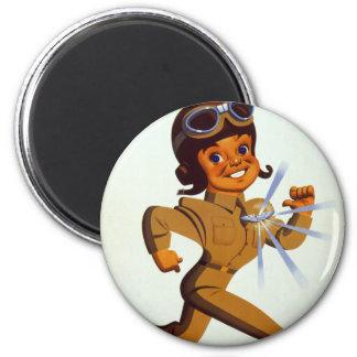 Mosca - fuerzas aéreas del ejército americano imán redondo 5 cm