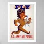 Mosca - fuerzas aéreas del Ejército del EE. UU. Poster