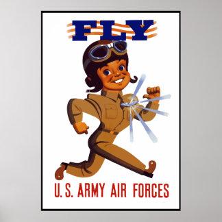 MOSCA -- Fuerzas aéreas del ejército -- Frontera Póster