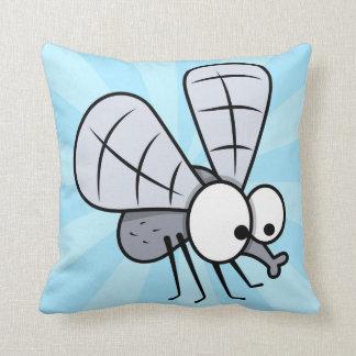 Mosca gris de la casa del dibujo animado almohada