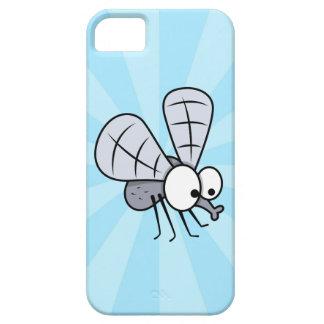Mosca gris de la casa del dibujo animado iPhone 5 Case-Mate cobertura