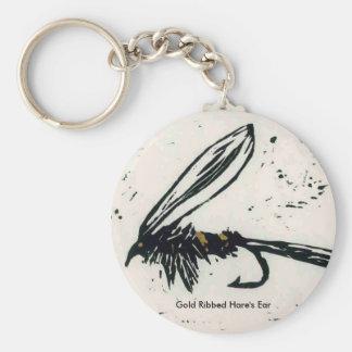 Mosca mojada del oído de la trucha de la mosca de llavero redondo tipo pin