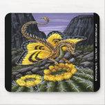 Mosca Mousepad del dragón del cactus de barril Tapete De Ratones