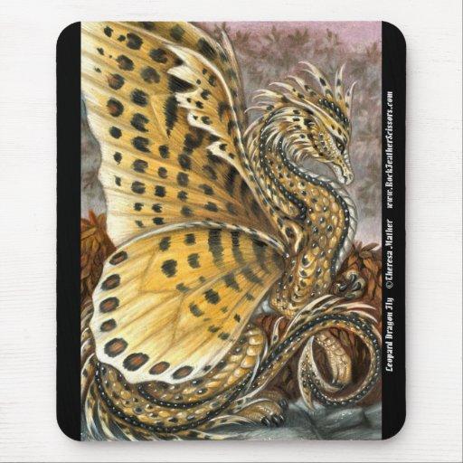 Mosca Mousepad del dragón del leopardo