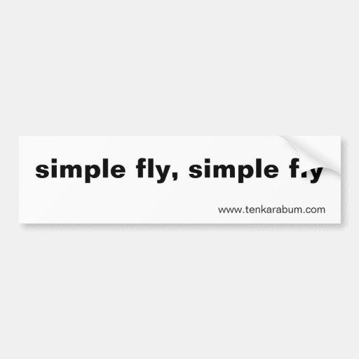 mosca simple, mosca simple, www.tenkarabum.com etiqueta de parachoque