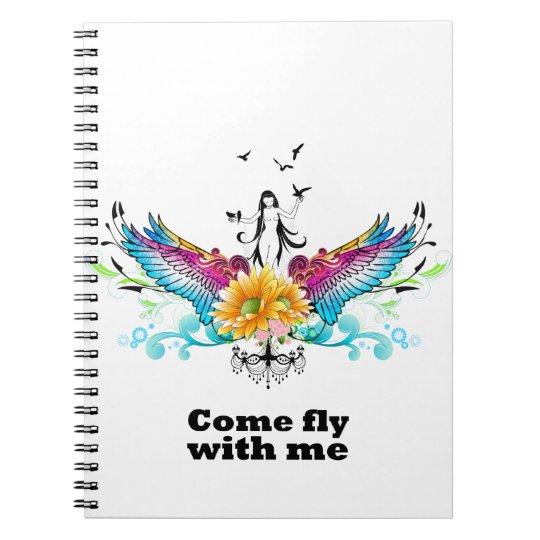 Mosca venida conmigo notebook