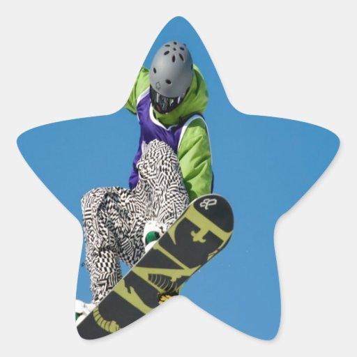 Mosca y Shakedown de la snowboard de la libertad Pegatina En Forma De Estrella
