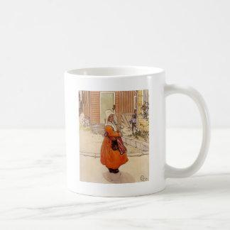 Moscas alrededor del azúcar taza de café