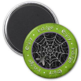 Moscas de Bzz y Web de araña gruesos para Hallowee Imanes Para Frigoríficos