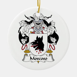 Moscoso Family Crest Christmas Tree Ornaments