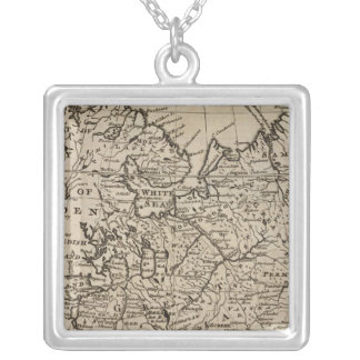 Moscovy, Russia Square Pendant Necklace