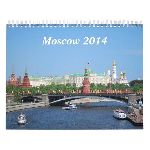 Moscow 2014 Wall Calendar