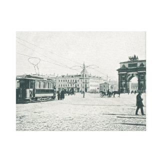 Moscow Ariel line tramway and archlet Canvas Print