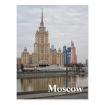 Moscow cityscape postcard