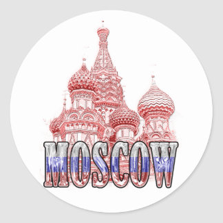 moscow classic round sticker