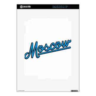 Moscow in cyan decal for the iPad 2