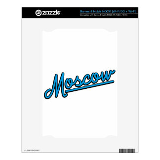 Moscow in cyan skins for NOOK