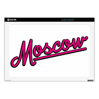 Moscow in magenta laptop decal