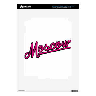 Moscow in magenta decal for iPad 3