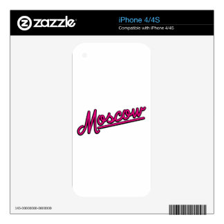 Moscow in magenta iPhone 4S skins