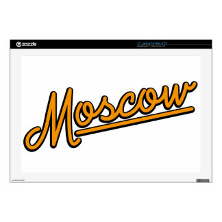 "Moscow in orange 17"" laptop decal"