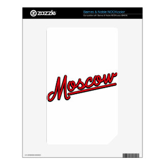 Moscow in red skins for NOOK color