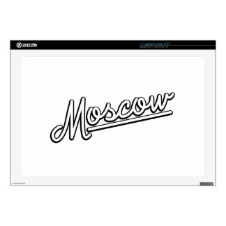 "Moscow in white 17"" laptop decal"