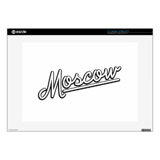 Moscow in white decals for laptops