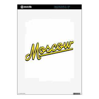 Moscow in yellow decal for the iPad 2