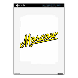 Moscow in yellow decal for iPad 3