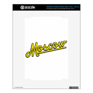 Moscow in yellow decals for NOOK