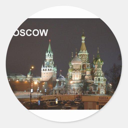 moscow--[kan.k].JPG Round Sticker