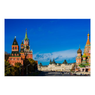 Moscow Kremlin and Red square Poster