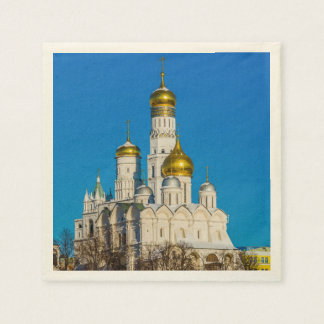 Moscow Kremlin cathedrals Napkin