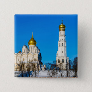 Moscow Kremlin cathedrals Pinback Button
